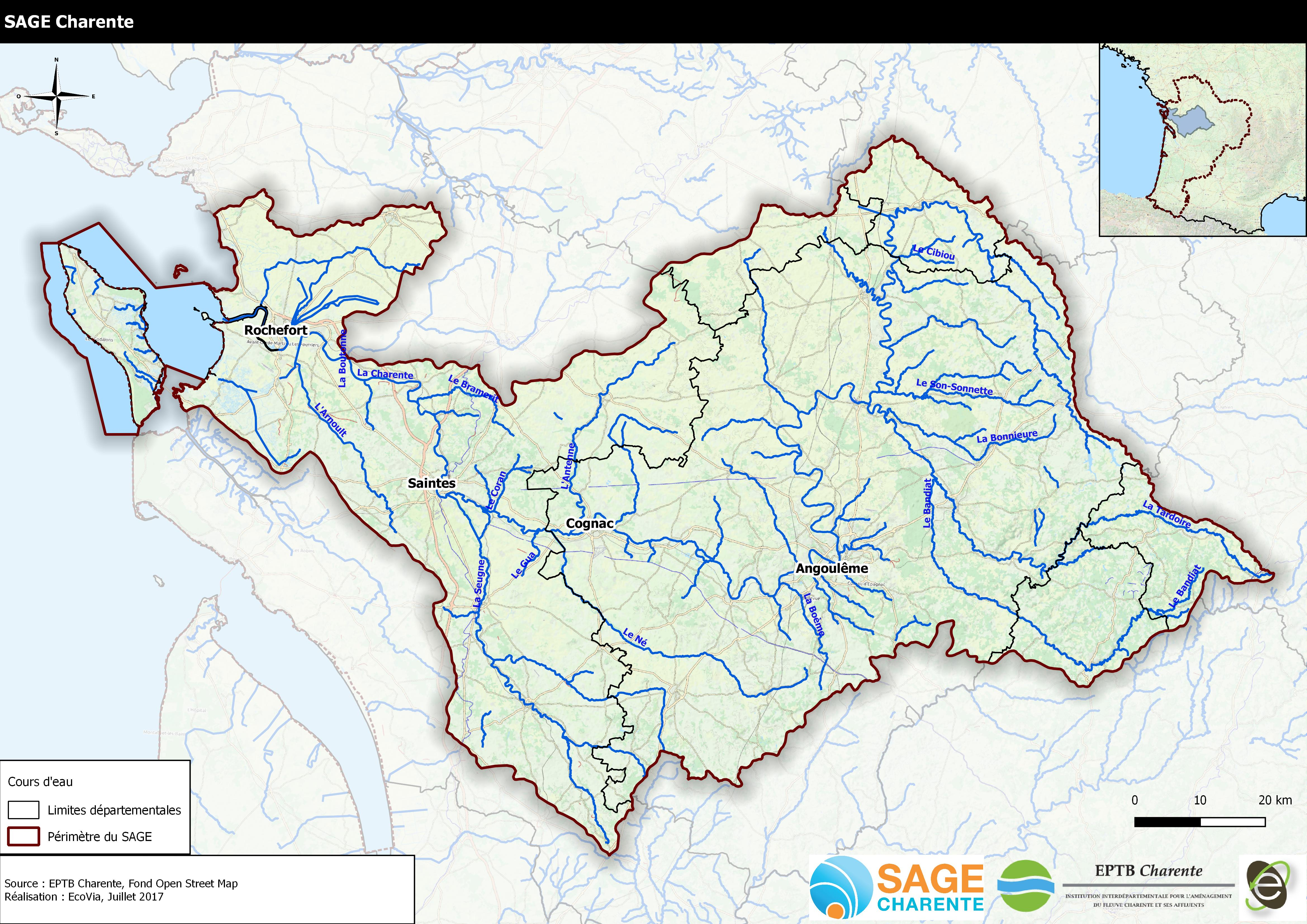 Evaluation environnementale et économique du SAGE Charente